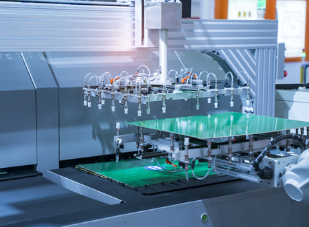 PCB Processing on CNC machine,Production of electronic components at high-tech factory Banque d'images - 116008530