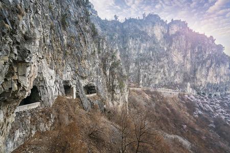 Guoliang hang wall highway, Hui county, Henan province, China 版權商用圖片