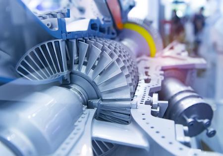 szczegóły metalowego mechanizmu turbiny
