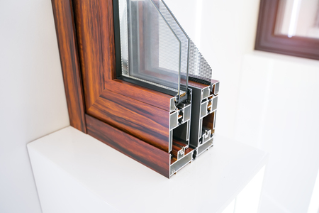 Aluminum profile for window, door and bathroom box Stockfoto