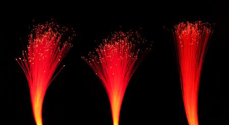 red Fiber optics lights abstract background Archivio Fotografico
