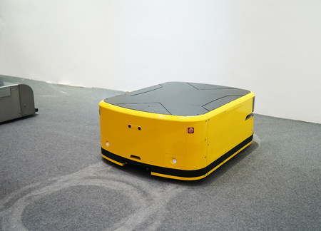 warehouse robot car assembly in factory