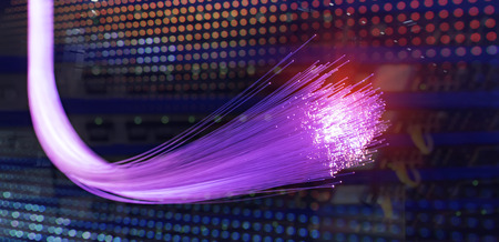 purple fiber optics lights abstract background Foto de archivo