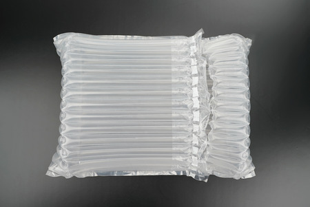plastic translucent air packaging, protection of goods. Reklamní fotografie - 122483030