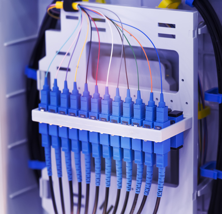Fiber optic cablel connect to communication Distribution point