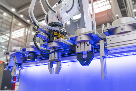 robot arm is working smartly in the production department in artificial intelligence factory Stock fotó