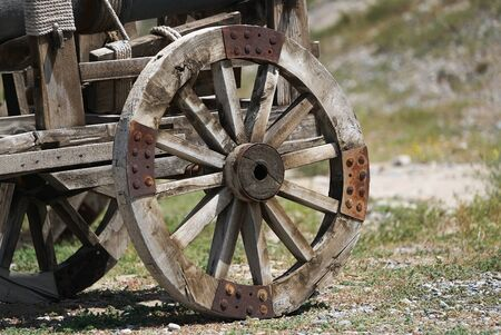 Vintage wooden Horse Carriage wheel