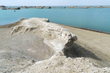Water Yardang landform Geopark at Qinghai China Фото со стока