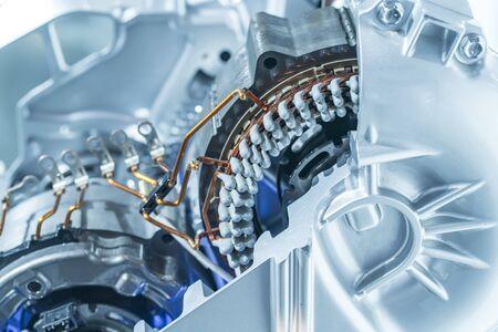 electric system of eco car engine Automotive part concept