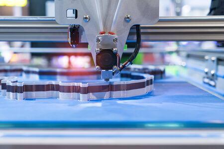 Three dimensional printing machine,3D printer. Stock Photo