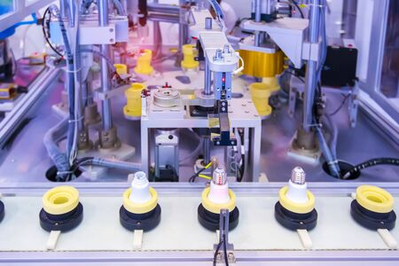 artificial intelligence machine at industrial manufacture factory of Energy saving lamp