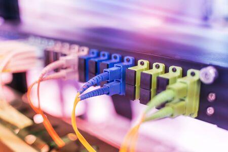 Fiber optic cablel connect to communication Distribution point 版權商用圖片