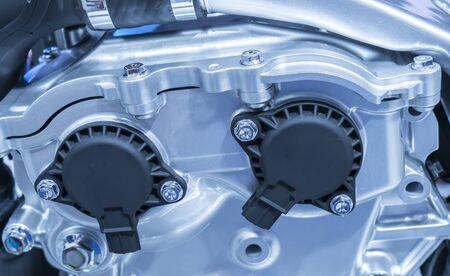 Modern powerful car engine section