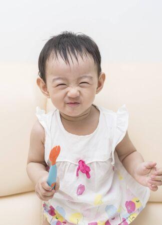Portrait of beautiful chinese baby