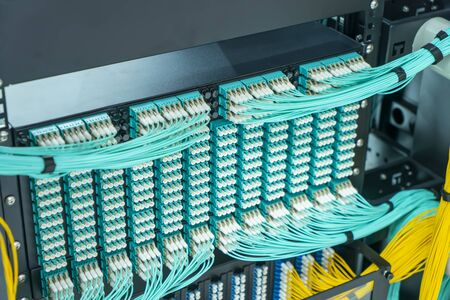 Fiber optic cable connect to communication Distribution point