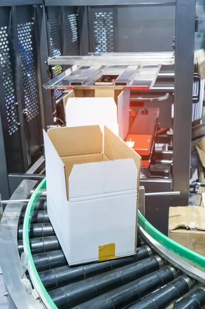 cells of the automated warehouse. Metal construction warehouse shelving