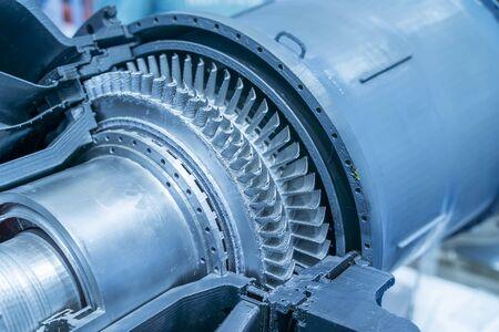 3d printer model of gas-turbine auxiliary power unit. Archivio Fotografico