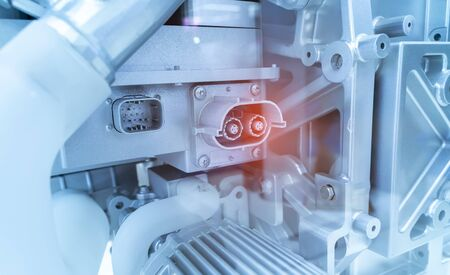 3d printer model of electric system of eco car engine Automotive part concept