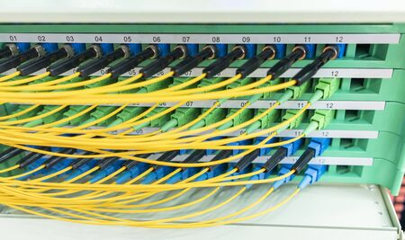 Fiber optic network cable connect to communication Distribution point