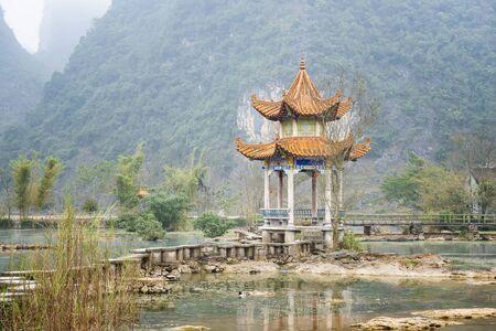 Pavilion in Jingxi, Guangxi, China Foto de archivo