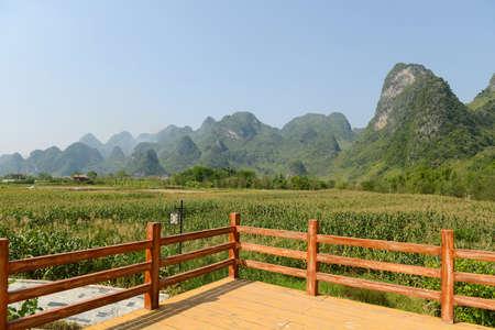 landscape of bama in guangxi,china Stok Fotoğraf