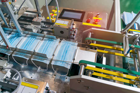 automatic machine for the manufacture of medical masks with nanofiber. Coronavirus and Covid-19 Protection