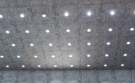 LED Light on cement roof.