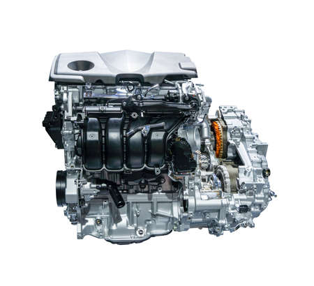 auto car engine isolated on white