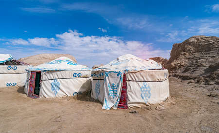 traditional Mongolian Yurt,home of nomads in Mongolia