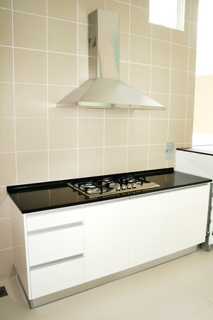 Kitchen stove with modern conceptual design photo