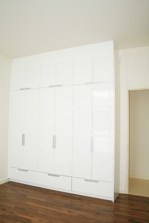 built in wardrobe with modern conceptual design photo