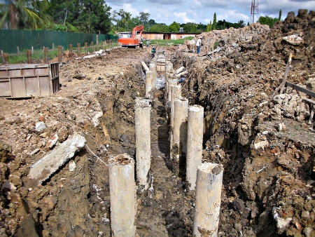 piling: Installation of piling foundation Editorial