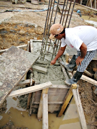 concreting: Concreting footing Editorial