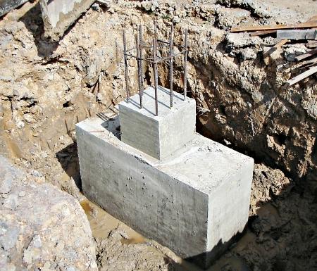 footing: The concrete footing of school block Editorial