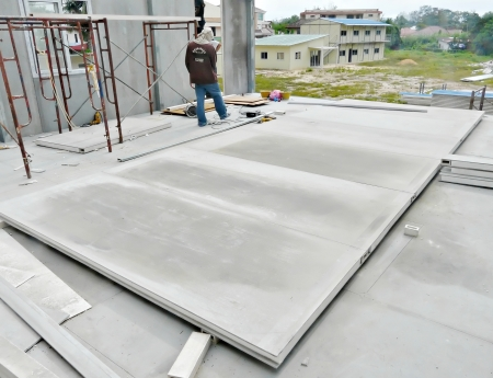 Construction of modular house using fibre cement board panel
