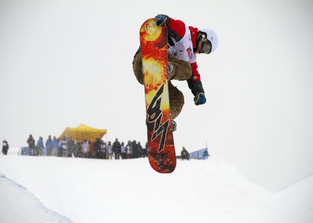 moguls: FIS Junior World Championships 2014- Halfpipe -in chiesa valmalenco italy - wed 26 mar 2014 - gron petter (nor)