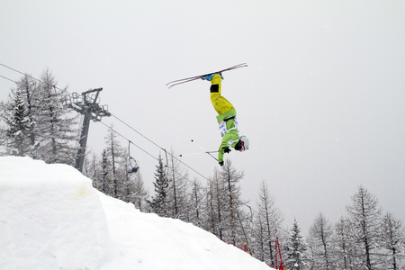 moguls: Fis freestyle junior world championships 2014  - in Chiesa Valmalenco Italy - Wed 26 mar 2014 -Hara Daichi (jpn)