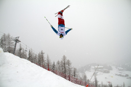 moguls: Fis freestyle junior world championships 2014  - in Chiesa Valmalenco Italy - Wed 26 mar 2014 -kapitonov nikita (rus)