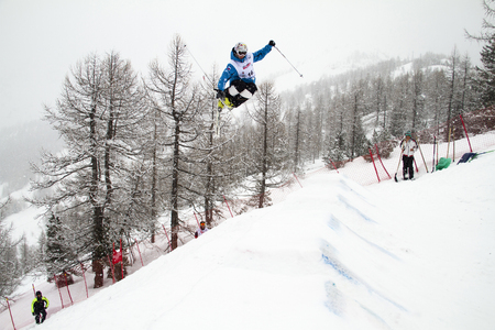 moguls: Fis freestyle junior world championships 2014  - in Chiesa Valmalenco Italy - Wed 26 mar 2014 -uglovski andrey (rus) Editorial