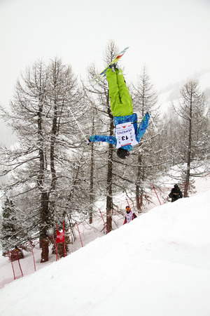 moguls: Fis freestyle junior world championships 2014  - in Chiesa Valmalenco Italy - Wed 26 mar 2014 -Sugimoto Kosuke jpn