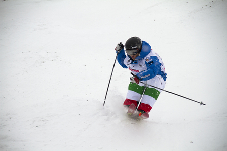 moguls: Fis freestyle junior world championships 2014  - in Chiesa Valmalenco Italy - Wed 26 mar 2014 -Vernier Federico italy