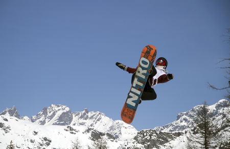 Fis freestyle junior world championships 2014  - in Chiesa Valmalenco Italy - 30 march 2014 - slopestyle - Schaerer Michaek  Sui Editorial