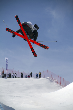 world championships: Fis freestyle junior world championships 2014  - in Chiesa Valmalenco Italy - 30 march 2014 - halfpipe freestyle Editorial