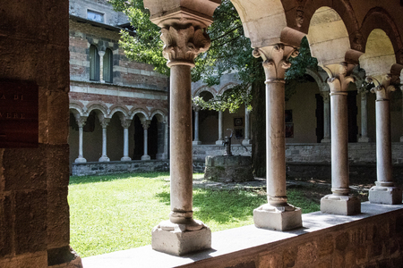Piona abbey near Lake of Como Italy 版權商用圖片