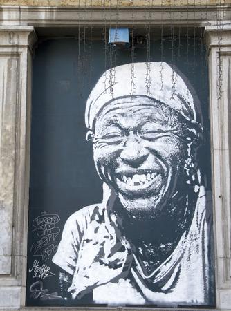 Brussels, Belgium - november 01, 2017: graffiti on the street in brussels, Belgium Archivio Fotografico - 105182385