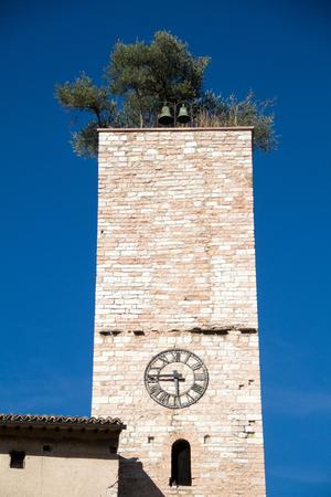 The historic church in Spello, Umbria, Italy
