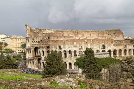 exterior of Colosseum Rome in italy