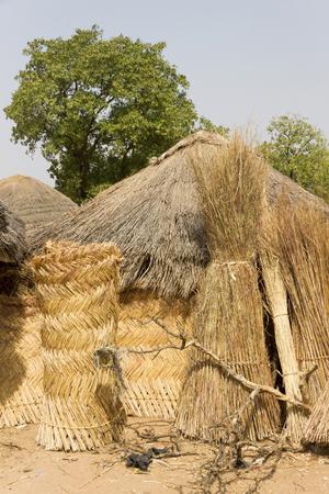 typical african village in ghana Archivio Fotografico - 118444258