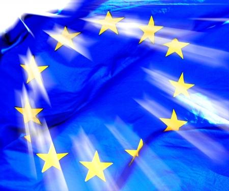 commonwealth: A waving European Union Flag in sunshine