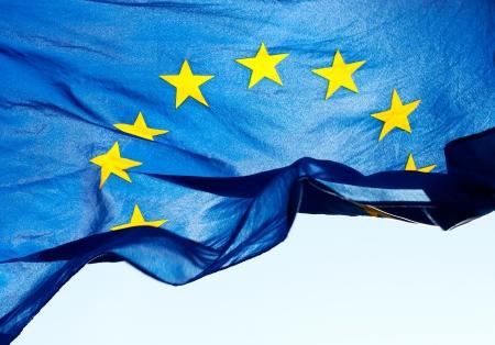 Fragment van de vlag van de Europese Unie Stockfoto